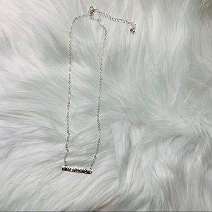"NEW ""Mermaid"" dainty silver tone necklace"